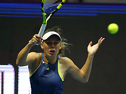 February 2, 2018 - St. Petersburg, Russia - Russian Federation. Saint-Petersburg. SIBUR arena. Tennis. WTA. St. Petersburg Ladies Trophy 2018. Women. Darya Kasatkina - Caroline Wozniacki. (Credit Image: © Russian Look via ZUMA Wire)