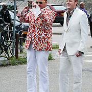 NLD/Amsterdam/20120721 - Huwelijk Berget Lewis en Sebastiaan van Rooijen, Richard Groenendijk en partner Marko