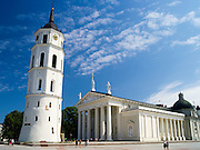 Vilnius, Lithuania's Katedra/Cathedral and Clocktower, on the edge of Old Town.