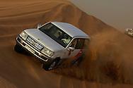 """Dune bashing"" - a Dubai motorsport, driving 4x4 cars in the sand dunes... Dubai."