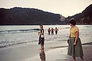 People on Maracas beach in the evening, Port of Spain, Trinidad