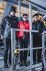 THEMENBILD - Gernot Fischer (Doppelmayr), Melitta Doppelmayr- Hinteregger (Doppelmayr), Albert Gufler (Doppelmayr) am Sonnblick Observatorium, aufgenommen am 20. November 2018, Rauris, Österreich // Gernot Fischer (Doppelmayr), Melitta Doppelmayr- Hinteregger (Doppelmayr), Albert Gufler (Doppelmayr) at the Observatory Sonnblick on 2018/11/20, Rauris, Austria. EXPA Pictures © 2018, PhotoCredit: EXPA/ JFK