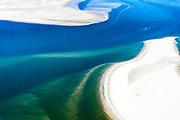 Nederland, Friesland, Terschelling, 05-07-2018; zandplaat De Richel, tussen Vlieland en Terschelling, belangrijk rustgebied voor grijze zeehonden.<br /> Sandbank De Richel, between Vlieland and Terschelling, important resting area for gray seals.<br /> luchtfoto (toeslag op standard tarieven);<br /> aerial photo (additional fee required);<br /> copyright foto/photo Siebe Swart
