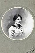 1900s round studio portrait of an adult woman