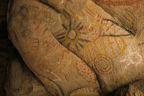 Mexico, History,  Cave paintings on the Baja Peninsula.