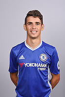 COBHAM, ENGLAND - AUGUST 11: Oscar of Chelsea during the Official Portrait session at Chelsea Training Ground on August 11, 2016 in Cobham, England. (Photo by Darren Walsh/Chelsea FC via Getty Images)