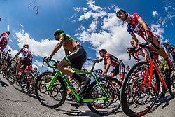 Dennis Paulus (AUT) of Team Hrinkow Advarics Cycleang, Gorazd Per (SLO) of KK Adria Mobil  during Stage 3 of 24th Tour of Slovenia 2017 / Tour de Slovenie from Celje to Rogla (167,7 km) cycling race on June 16, 2017 in Slovenia. Photo by Vid Ponikvar / Sportida