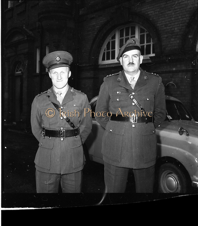 01/12/1961<br /> 12/01/1961<br /> 01 December 1961<br /> Members of the 36th Battalion due to head for the Congo on peacekeeping duty with the United Nations.