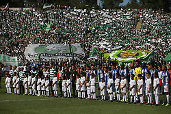 May 25, 2019 - Oeiras, Portugal - OEIRAS, PORTUGAL - MAY 25: Sporting's and Porto's teams before the Portugal Cup Final football match Sporting CP vs FC Porto at Jamor stadium, on May 25, 2019, in Oeiras, outskirts of Lisbon, Portugal. (Credit Image: © Pedro Fiuza/NurPhoto via ZUMA Press)