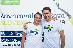 Denis Topcic, Gregor Krusic, Drzavno prvenstvo novinarjev v tenisu 2019, on June 12, 2019 in Tivoli, Ljubljana, Slovenia. Photo by Saso Pahic Szabo / Sportida