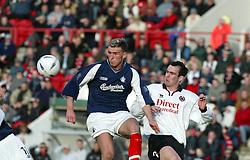 Falkirk's Lee Miller & John Potter..Clyde 0v0 Falkirk..15/03/2003 ©Michael Schofield...