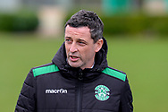 Hibernian FC manager, Jack Ross makes his way to the pitches before the training session at Hibernian Training Centre, Ormiston, Scotland on 27 November 2020, ahead of their Betfred Cup match against Dundee.