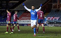 Jonson Clarke-Harris of Peterborough United celebrates scoring his goal against Ipswich Town - Mandatory by-line: Joe Dent/JMP - 09/02/2021 - FOOTBALL - Weston Homes Stadium - Peterborough, England - Peterborough United v Ipswich Town - Sky Bet League One