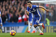 Pedro of Chelsea in action. Premier league match, Chelsea v Arsenal at Stamford Bridge in London on Saturday 4th February 2017.<br /> pic by John Patrick Fletcher, Andrew Orchard sports photography.