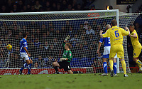 Photo: Ashley Pickering.<br />Ipswich Town v Sheffield Wednesday. Coca Cola Championship. 11/11/2006.<br />Madjid Bougherra (far right) heads in Sheffields second goal