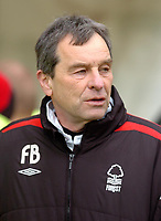 Photo: Leigh Quinnell.<br /> Nottingham Forest v Colchester United. Coca Cola League 1. 08/04/2006. Forest caretaker manager Frank Barlow sees another victory for his team.