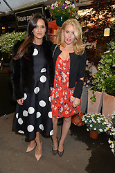 Left to right, ROXIE NAFOUSI and CAGGIE DUNLOP at a party to celebrate the launch of the Taylor Morris Eyewear's Summer Collection held at The Chelsea Gardner, 125 Sydney Street, London on 20th May 2015.