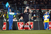 9th August, 2003. Carisbrook, Dunedin, New Zealand. <br />Tri - Nations Rugby Union. All Blacks v South Africa.<br />Mark Hammett.<br />The All Blacks won the match, 19 - 11.<br />Pic: Andrew Cornaga/Photosport