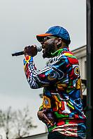 Wyclef Jean performing, 420 Cannabis Culture Music Festival, Civic Center Park, Downtown Denver, Colorado USA.