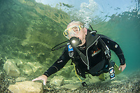 79 year old former Royal Marine, Ted Tandy takes to the water for his annual dive.The equipment has changed a bit since he first dived, but the skills remain the same!