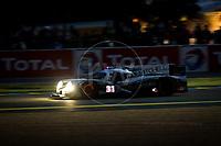 Qualifying Ryan Dalziel (GBR) / Luis Felipe Derani (BRA) / Christopher Cumming (CAN) driving the LMP2 Extreme Speed Motorsports Ligier JS P2 - Nissan 24hr Le Mans 15th June 2016