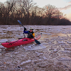 Paddling Horse Pen Branch and Icy Potomac River