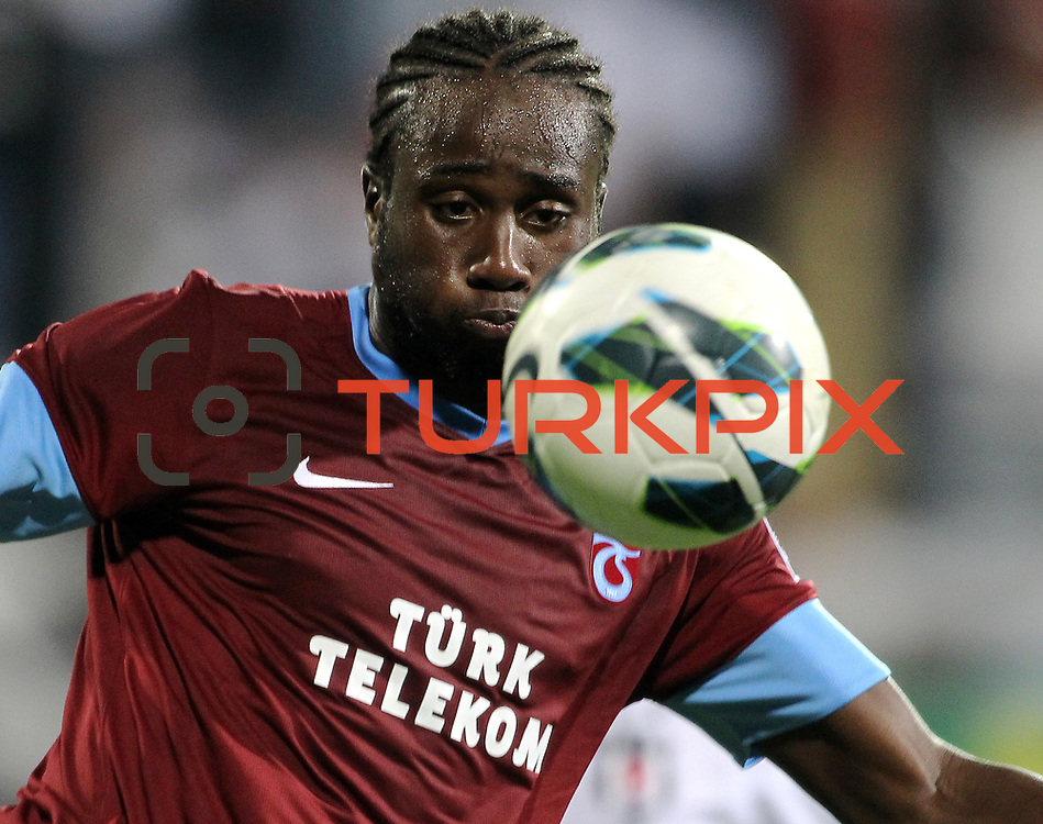 Trabzonspor's Souleyman Bamba during their Turkish Superleague soccer derby match Besiktas between Trabzonspor at the Inonu Stadium at Dolmabahce in Istanbul Turkey on Sunday, 21 October 2012. Photo by Aykut AKICI/TURKPIX