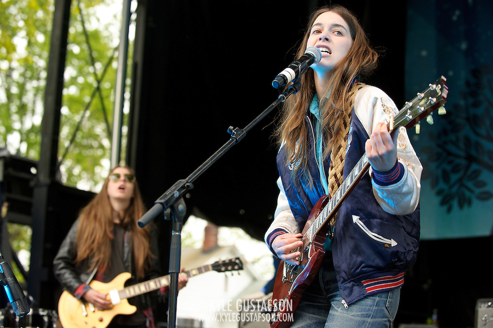 COLUMBIA, MD - April 28th, 2012 -  Haim perform at the 2012  Sweetlife Food and Music Festival at Merriweather Post Pavilion in Columbia, MD.  (Photo by Kyle Gustafson/For The Washington Post)