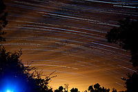 Star Trails Looking South. Composite of 140 images taken between 02:00 and 03:15 with a Nikon D3 camera and 24 mm lens (ISO 400, 24 mm, f/4, 30 sec).