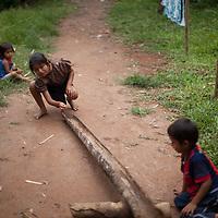 Q'eqchi children play marbles in Concepción Actelá, Alta Verapaz. World Renew is beginning to work in Concepción Actelá, through its Guatemalan partner ADIP.