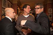 MARC QUINN; ANTONY GORMLEY, JAY JOPLING, Charles Finch and  Jay Jopling host dinner in celebration of Frieze Art Fair at the Birley Group's Harry's Bar. London. 10 October 2012.