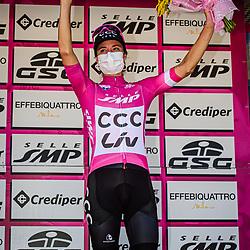 18-09-2020: Wielrennen: Giro Rosa: San Marco la Catola<br /> Marianne Vos (Netherlands / CCC Liv)Jeroen Blijlevens (Sports Director of CCC Liv)18-09-2020: Wielrennen: Giro Rosa: San Marco la Catola