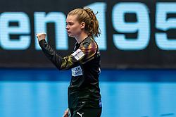 Althea Rebecca Reinhardt of Denmark in action during the Women's EHF Euro 2020 match between Denmark and Sweden at Jyske Bank BOXEN on december 11, 2020 in Kolding, Denmark (Photo by RHF Agency/Ronald Hoogendoorn)