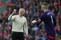 Football - 2016 / 2017 Premier League - Southampton vs.AFC Bournemouth<br /> <br /> A supporter tries to grab a selfie with Southampton's Fraser Forster during the second half at St Mary's Stadium Southampton<br /> <br /> COLORSPORT/SHAUN BOGGUST