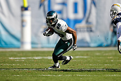 Philadelphia Eagles wide receiver Reggie Brown #86 carries the ball during the NFL game between the Philadelphia Eagles and the San Diego Chargers on November 15th 2009. At Qualcomm Stadium in San Diego, California. (Photo By Brian Garfinkel)