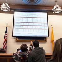 Final election results for the City of Gallup 2020 Municipal Officer Election are displayed at City Hall Tuesday night in Gallup.