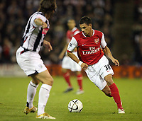 Photo: Rich Eaton.<br /> <br /> West Bromwich Albion v Arsenal. Carling Cup. 24/10/2006. Jeremie Aliadiere attacks