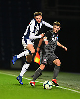 Lincoln City U18's Charlie West battles with  West Bromwich Albion U18's Taylor Gardner-Hickman<br /> <br /> Photographer Andrew Vaughan/CameraSport<br /> <br /> FA Youth Cup Round Three - West Bromwich Albion U18 v Lincoln City U18 - Tuesday 11th December 2018 - The Hawthorns - West Bromwich<br />  <br /> World Copyright © 2018 CameraSport. All rights reserved. 43 Linden Ave. Countesthorpe. Leicester. England. LE8 5PG - Tel: +44 (0) 116 277 4147 - admin@camerasport.com - www.camerasport.com