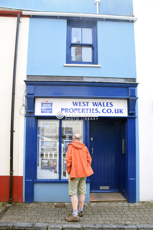 Estate Agent, Tenby, South Wales July 2021. MR