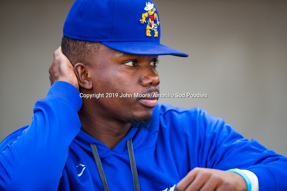Amarillo Sod Poodles infielder Ruddy Giron (9) against the Tulsa Drillers during the Texas League Championship on Wednesday, Sept. 11, 2019, at HODGETOWN in Amarillo, Texas. [Photo by John Moore/Amarillo Sod Poodles]