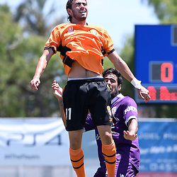 BRISBANE, AUSTRALIA - JANUARY 8: Jayden Prasad of the Roar heads the ball during the round 8 Foxtel National Youth League match between the Brisbane Roar and Perth Glory at AJ Kelly Field on January 8, 2017 in Brisbane, Australia. (Photo by Patrick Kearney/Brisbane Roar)