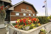 Kenai Visitors and Cultural Center, Kenai Peninsula. Alaska. Visitors center and arts center.