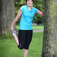 Nederland, Amsterdam , 6 september 2011..Joukje Janssen (corporate, ASS, v, Amsterdam) tijdens het hardlopen..Joukje doet mee aan Connected Running..Foto:Jean-Pierre Jans