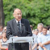 Hans-Dietrich Genscher former foreign minister of Germany attends the funeral of Gyula Horn former prime minister of Hungary in Budapest, Hungary on July 08, 2013. ATTILA VOLGYI