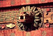 MEXICO, MEXICO CITY, MUSEUM Teotihuacan; Quetzalcoatl serpent