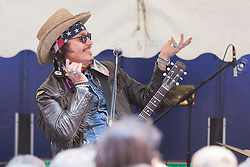 © Licensed to London News Pictures. 06/07/2014. London, England. Adam Ant, former lead singer of Adam & the Ants, performs at a gig at the event. Celebrities attend the 65th Anniversary Celebrations of Bar Italia in Frith Street, Soho, London, in aid of Great Ormond Street Hospital. Photo credit: Bettina Strenske/LNP