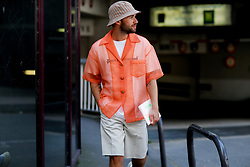 Street style, JS Roques (jaimetoutcheztoi) arriving at Acne Spring-Summer 2019 menswear show held at Bercy Popb, in Paris, France, on June 20th, 2018. Photo by Marie-Paola Bertrand-Hillion/ABACAPRESS.COM