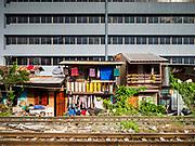 13 SEPTEMBER 2018 - BANGKOK, THAILAND: along the main set of train tracks that leave Bangkok and go into the Thai provinces.     PHOTO BY JACK KURTZ