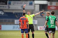Fotball , 15 Mai 2021 , OBOS-ligaen, AaFK - Bryne, Jan Morten Tennøy gir Niklas Fernando Castro rødt kort.<br /> <br /> Aalesund<br /> , Foto: Srdan Mudrinic, Digitalsport