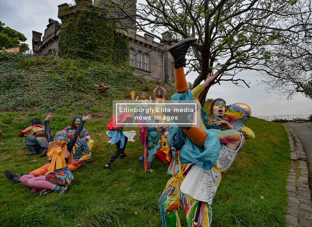 Pictured: participants perform during the festival.<br /> <br /> The spectacular annual Beltane Fire Festival takes place on Calton Hill in Edinburgh to herald in the start of summer.<br /> <br /> © Dave Johnston / EEm